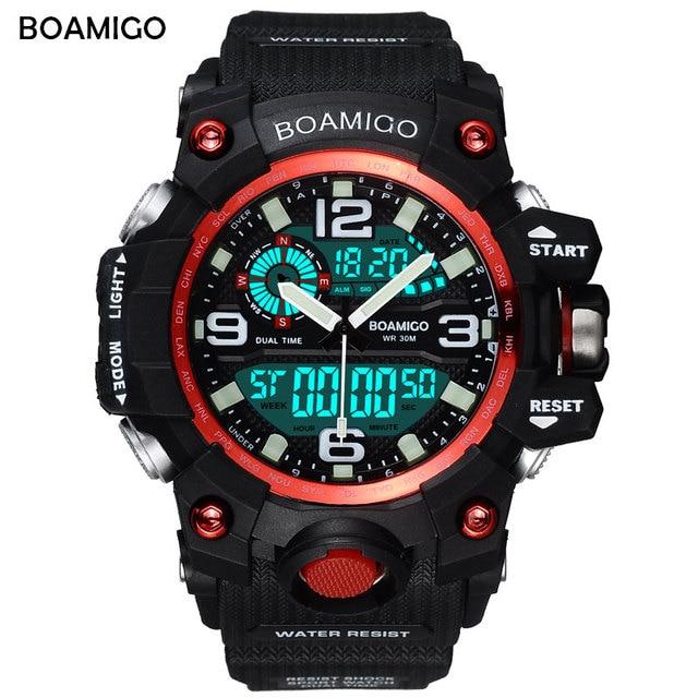 317099c80ed BOAMIGO Marca Men Sports Relógios LED Relógio Digital Moda Relógio Relogio  masculino Analógico Quartz Relógio de