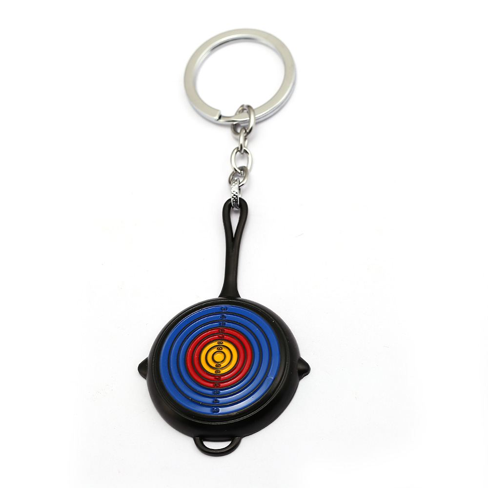 HSIC Game Playerunknowns Battlegrounds Pans Target Keychain Keyring Holder Car Bag Accessories Souvenir MEN Jewelry HC12880