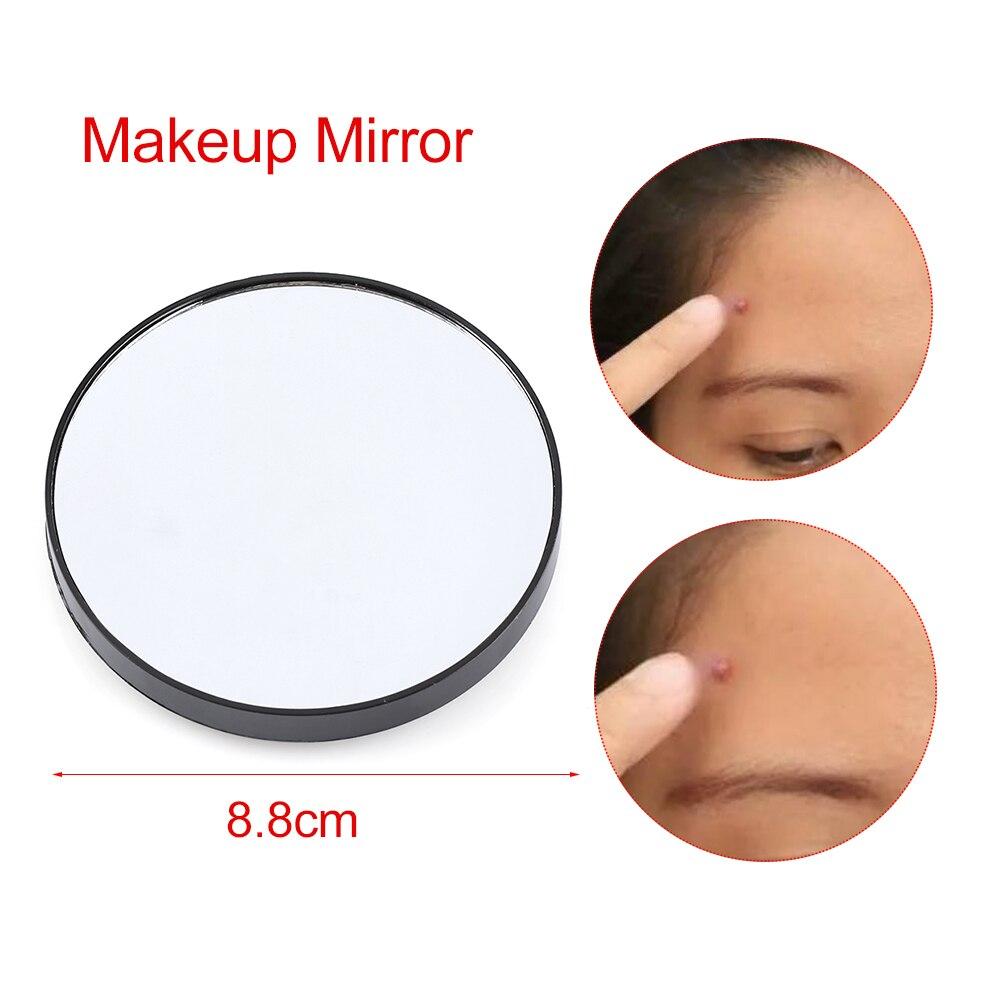 Heißer Verkauf Make-up Spiegel Vergrößerungs Spiegel 3/5/10x Mit Zwei Saugnäpfen Kosmetik Werkzeuge Tragbare Runde Spiegel Vergrößerung Haut Pflege Werkzeuge