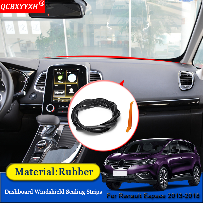 QCBXYYXH Car-styling Rubber Anti-Noise Soundproof Dustproof Car Dashboard Windshield Sealing Strips For Renault Espace 2013-2018