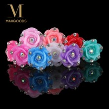 a91a5bff7 20pcs Crystal Rhinestone Rose Flower Hair Pin Clips Women Wedding Bridal  Hair Jewelry Girls Hair Clips Wholesale