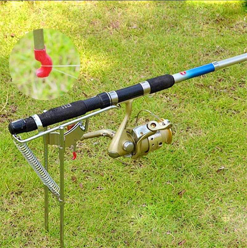 Automatic Spring Loaded Hook Setter Fishing Device Stainless Steel Trap Tool