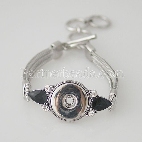 Hot seller High Interchangeable snap jewelry for ginger snaps bracelet in charm bangel fit 18-20mm snaps buttons KB0168
