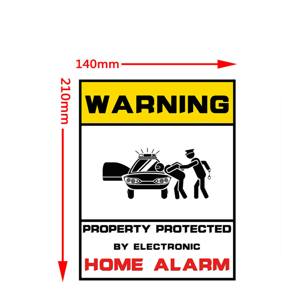 Image 5 - 1pcs Waterproof Home CCTV Video Surveillance Security Camera Security Home Alarm Sticker Warning Decal Signs-in Warning Tape from Security & Protection