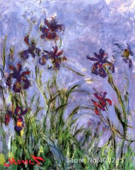 Canvas Art online Claude Monet Paintings Irises II High quality Hand painted
