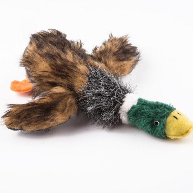 Прекрасная собака игрушки для щенка, домашних животных жевательные Плюшевые мультфильм Животные белка хлопчатобумажной веревки OX Форма игрушка для прикуса утка Форма d Писк игрушки