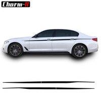 2pcs M Performance Side Stripe Decal Sticker Waist Line Door Side Decals For BMW G30 G31