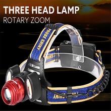 1PC Flashlight Cycling Bike Head Front Light 2017 15000Lm 3x XML T6 LED Headlamp Rechargeable Headlight