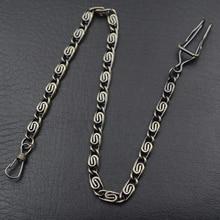 Новое поступление, 1 шт., высокое качество, сплав, стимпанк, мужские карманные часы с цепочкой, черный/серебристый/золотистый/Бронзовый/4 цвета на выбор