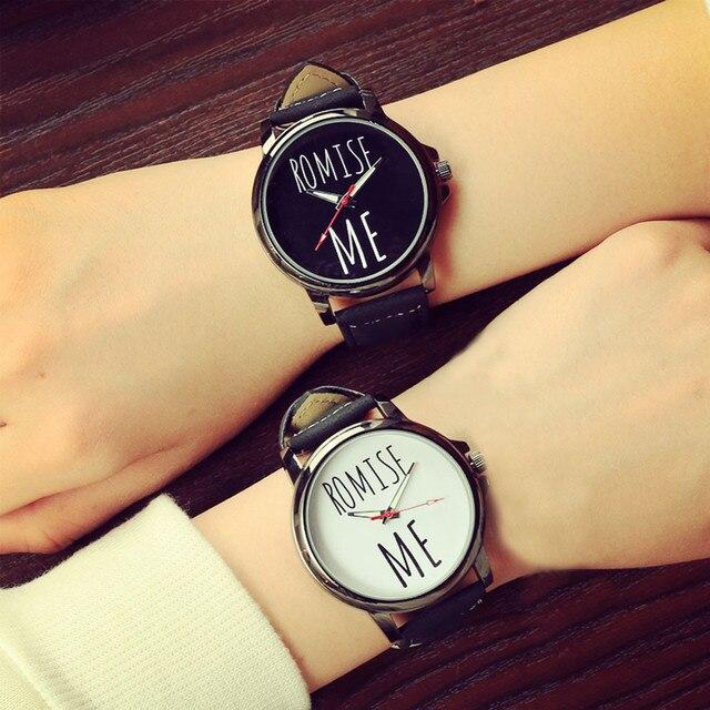 f077886255d PU Couro Relógios de Pulso Para Amantes Mulheres Wacth Relógio Casal  Presente dos Esportes Dos Homens