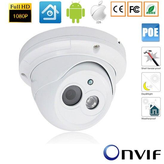 CCTV 1920*1080P 2.0MP IP Outdoor Network Camera Vandalproof IR Camera NightVision Power over Ethernet 48V POE ONVIF SurveillanceCCTV 1920*1080P 2.0MP IP Outdoor Network Camera Vandalproof IR Camera NightVision Power over Ethernet 48V POE ONVIF Surveillance