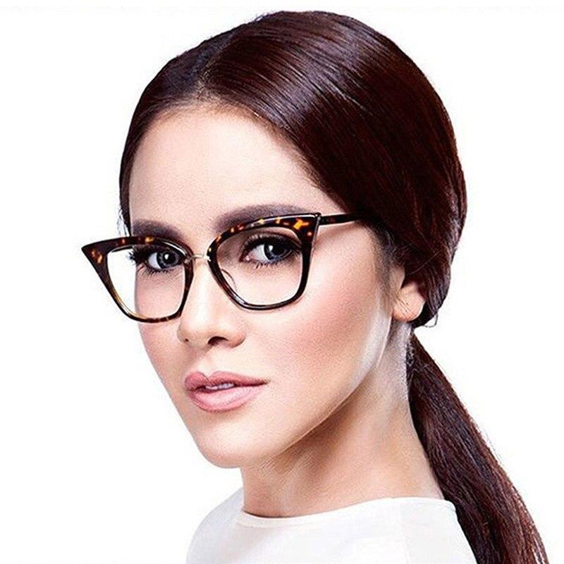 Woman Optical Eyeglasses Fashion Female Stylish Frame Spectacles for Women Prescription Eyewear Glasses Frame Cat-Eye Style