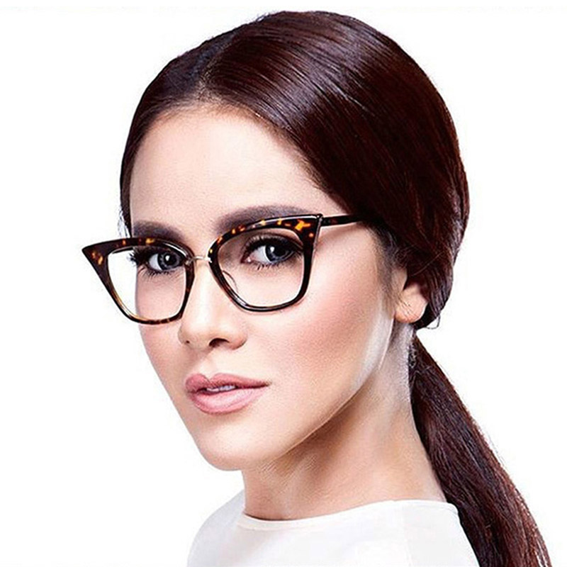 Woman Optical Eyeglasses Fashion Female Stylish Frame Spectacles for Women Prescription Eyewear Glasses Frame Cat-Eye Style