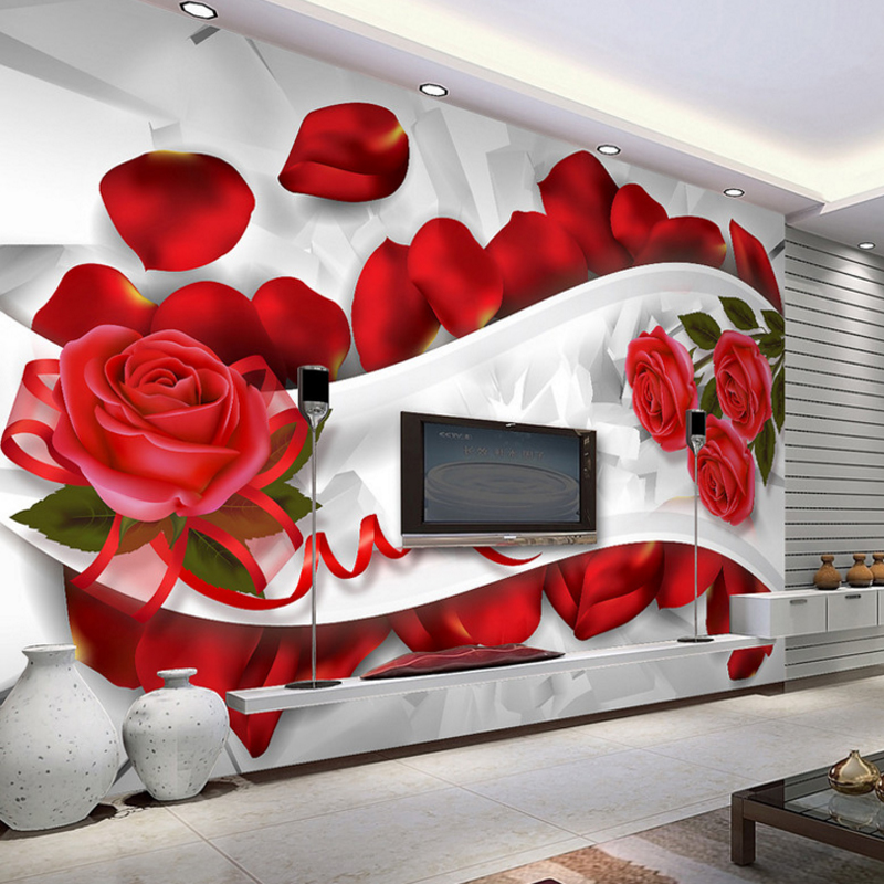 3d home decorating custom wallpaper for living room TV background wall wallpaper red rose abstract stereoscopic line wall mural custom photo wallpaper for walls 3d wall mural stereoscopic geometric wall paper for living room tv background 3d wallpaper roll