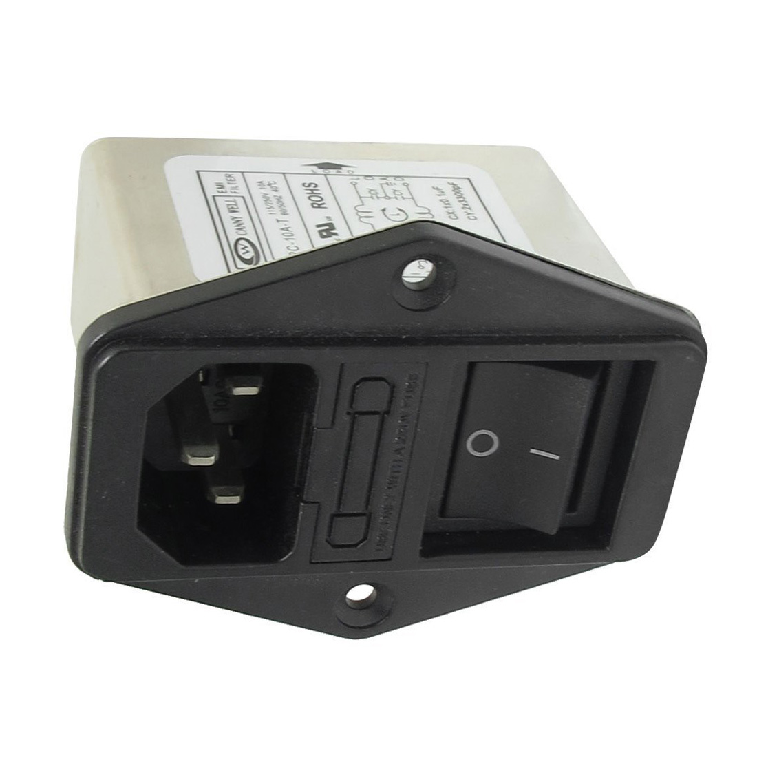 WSFS Heißer Lötösen IEC 320 C14 EMI Filter + Boot Schalter + Sicherungshalter