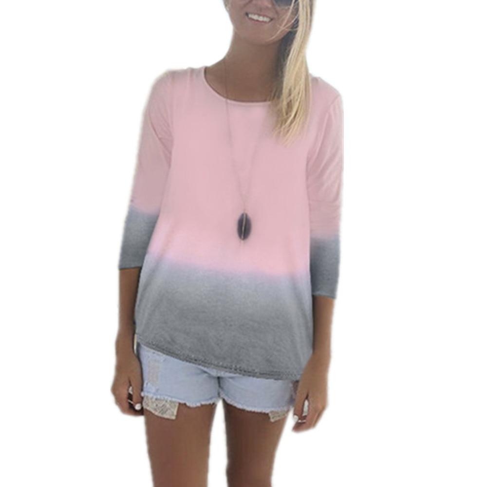 S 6Xl Plus Size Zanzea T Shirt 2018 Summer Women Long -9596