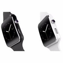 2016 neue bluetooth smart watch x6 smartwatch sport uhr für apple iphone android-handy mit kamera fm unterstützung sim free lieferung