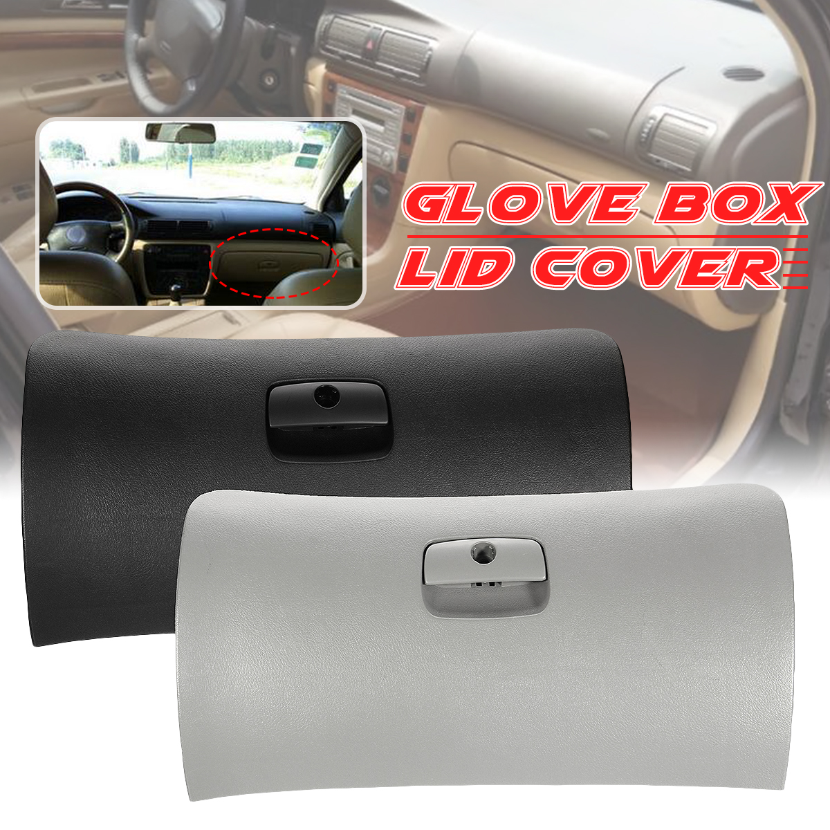 New Car Styling Auto Handle Cover Lid Storage Console Glove Box Door Cover Lid Latch For Passat Estate B5 & B5.5 1997 2005