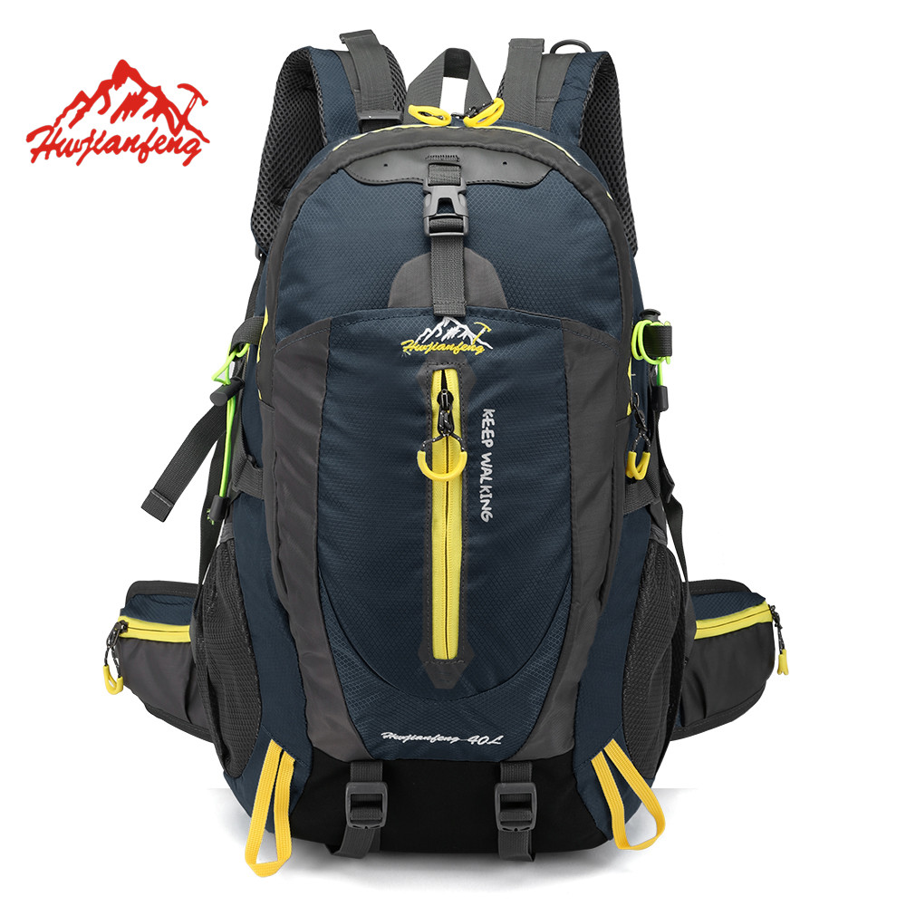 Waterproof Climbing Backpack Rucksack 40L Outdoor Sports Bag Travel Backpack Camping Hiking Backpack Women Trekking Bag For Men 40l outdoor hiking backpack 2l personal waist bag for travel climbing camping