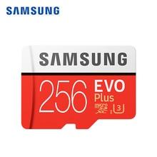 SAMSUNG Original Nuevo 256 GB U3 Micro SD Class10 de Tarjeta de Memoria TF/SD tarjetas R95MB C10/S MicroSDXC UHS-1 U3 EVO + EVO Plus Soporte 4 K