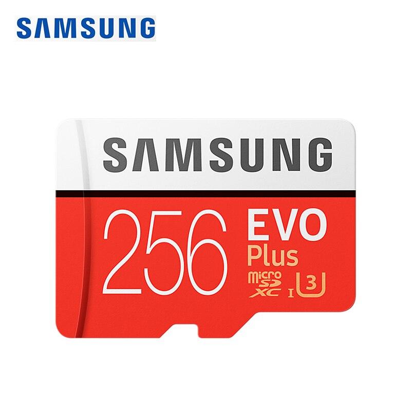 SAMSUNG Original nouveau 256 GB U3 Micro SD carte mémoire Class10 TF/SD cartes C10 R95MB/S MicroSDXC UHS-1 U3 EVO + EVO Plus Support 4 K