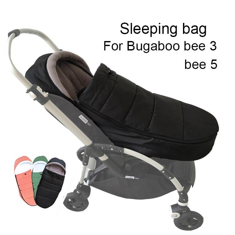 1:1 Winter Baby Stroller Accessories Waterproof Warm Sleeping Cocoon Socks Winter Footmuff For Bugaboo Bee 3 And Bee 5