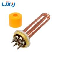 LJXH DN40 1 5inch Water Heater Element For Boiler Hexagon Thread Heaters 110V 220V 380V Copper