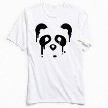 Tops Tees Panda Drips Men T-Shirt Simple Design T Shirts Lovers Day 2018 New Fashion Tshirt Short Sleeve 100% Cotton Crewneck цена
