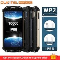 OUKITEL WP2 IP68 Водонепроницаемый пыли устойчивый к ударам мобильный телефон 4G RAM 64g ROM Octa Core 6,0 10000 мАч смартфон с отпечатками пальцев phablet