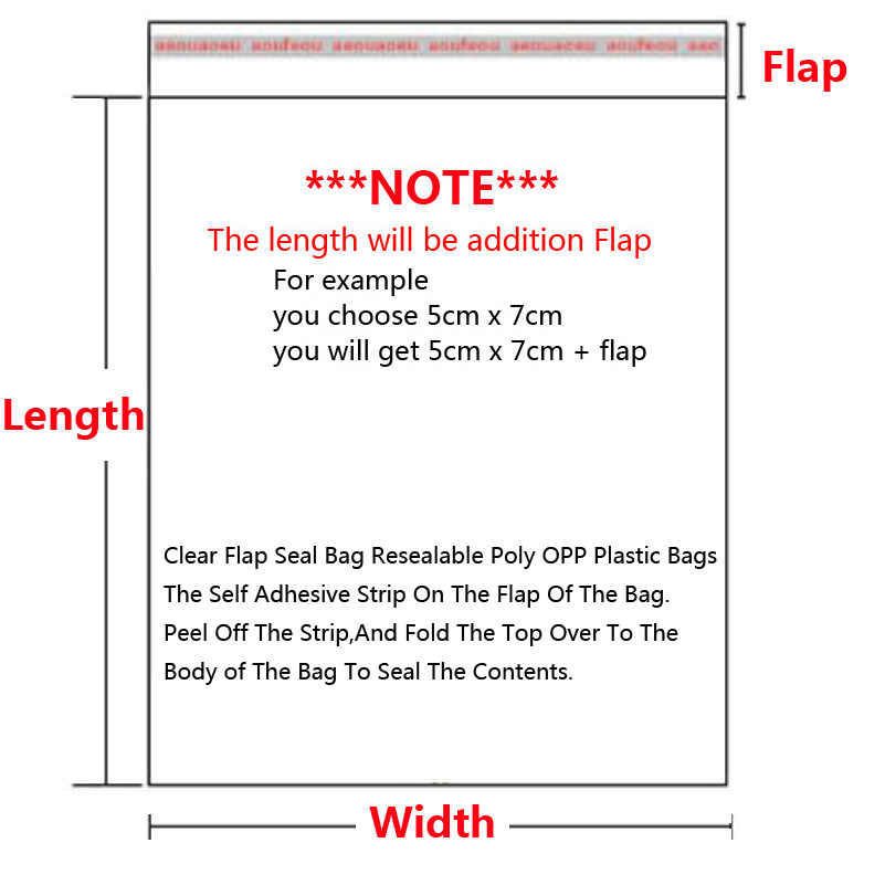 Transparent Self Sealing Plastic Bags Gift Jewelry Packaging Bag Self Adhesive Resealable Cellophane Poly OPP Bag Plastic Baggie
