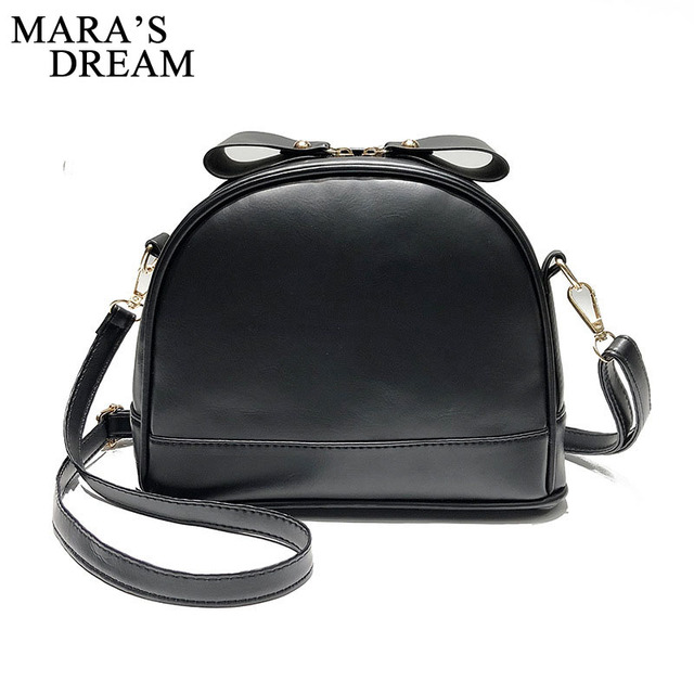 f7590398dc Mara s Dream 2018 PU Leather Women Handbag Fashion Ladies Small Saddle  Shoulder Messenger Bag Black Women Bags Mini Tote New