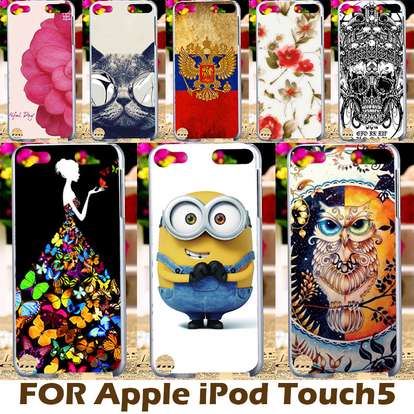 AKABEILA DIY Painting Design Hard Plastic Cases For iPod Case Apple Touch5 Touch 5 4.0 Inch Cover Protective Shell