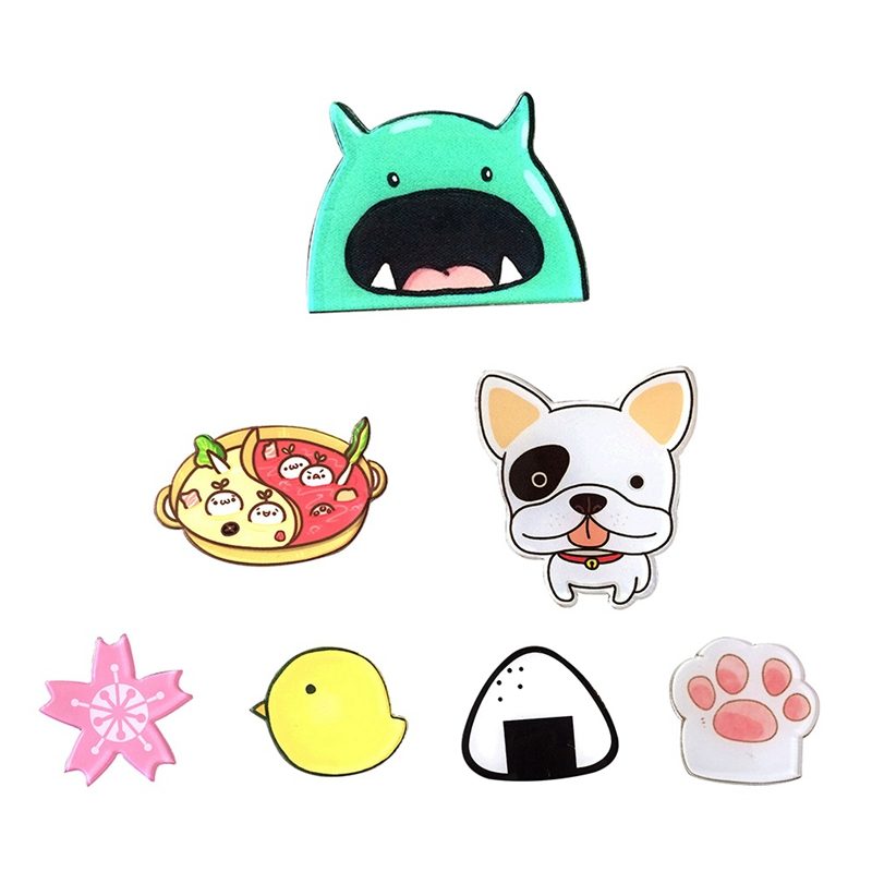 1 Pc Cute Food Cartoon Animal Creative Brooch Clothes Accessories For Women Kids Acrylic Pins Shirt Backpack Hats Brooch To Make One Feel At Ease And Energetic