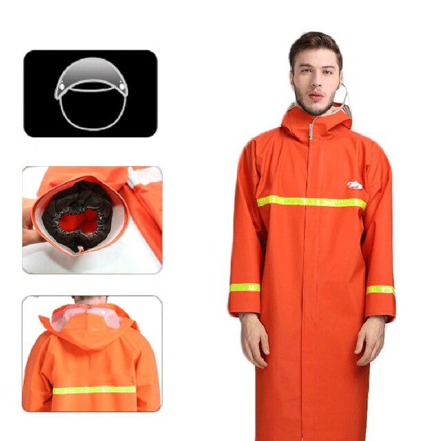 Abrigo de mujer Rian Impermeable largo de mujer, Moto eléctrica Adulto, traje de Camping de camuflaje, monos de pesca, Impermeable, ropa de lluvia 6R0083