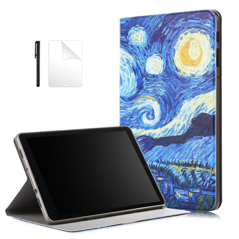 Fold Flip Stand Case For Samsung Tab A 10.5 SMT590/T595/T597 Magnetic Fold Shockproof Cover for Samsung Tab a 10.5 Case +Film