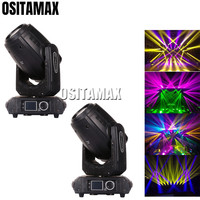 2pcs Sharpy Stage Light 280w 10w Beam Spot Wash Moving Head Light 3IN1 Gobo Projector for Disco Bar KTV Party Christmas Wedding