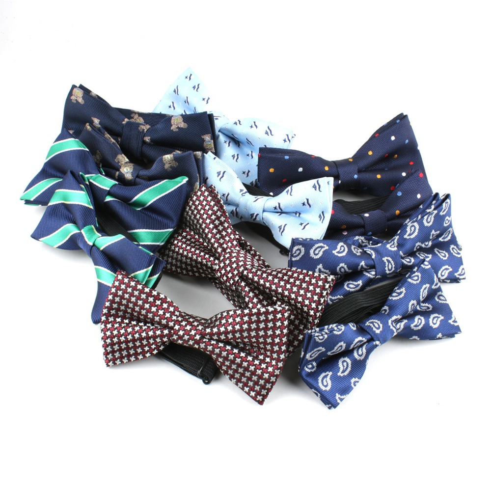 TagerWilen Men Child Sets Bowties Neckwear Bowknot Boy Cravats Casual Dots Bow Ties Wedding Party Dad And Son Sets T-195