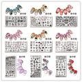 1 Pc Nail Art Stamping Template Animal Girl Sea Shell Starfish Design Rectangle Manicure Nail Art Image Plate Harunouta L012-031