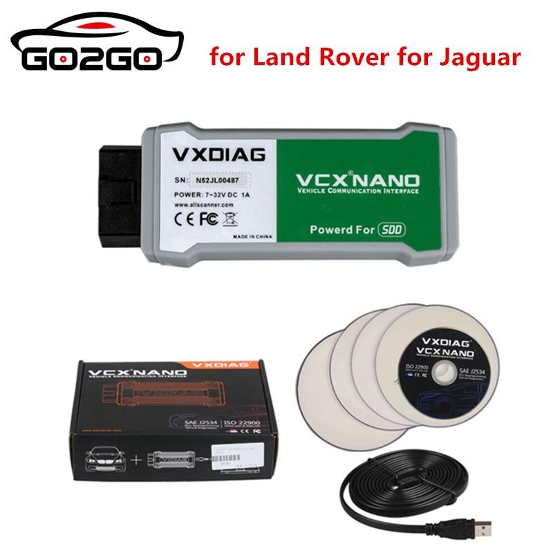 Hot Newly VXDIAG VCX NANO JLR For Jaguar For Land Rover Car Diagnostic Scanner Powered By SDD 145 For 12V 24 V Cars Trucks Free