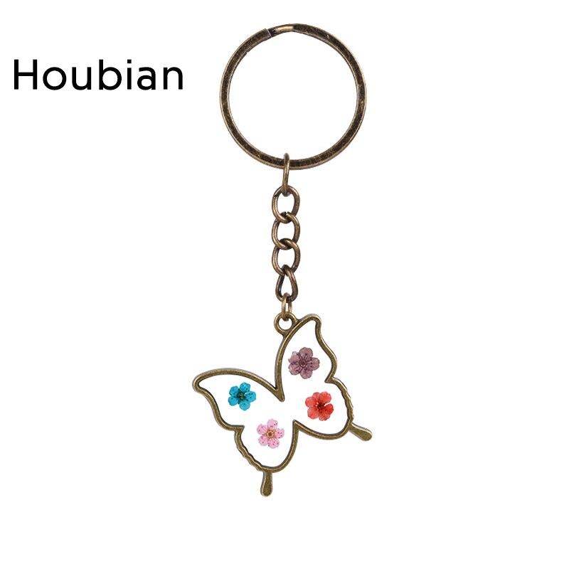 Módní motýl Keychain skleněná květina dívka populární motýl Keychain dámská párty dárek k narozeninám Keychain Příslušenství