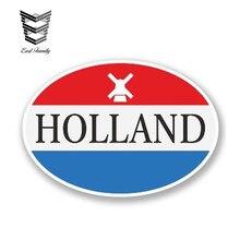 EARLFAMILY 15cm x 10cm Holland Vinyl Aufkleber Laptop Reise Gepäck Auto Aufkleber Stoßstange Helm Wasserdichte Auto Styling Zubehör