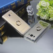 Ringcall Mirror Case Soft TPU Back Cover for Samsung Galaxy A3 A5 A7 A8 J1 J2 J3 J5 J7 2015 2016 2017 Ring Holder Phone Case