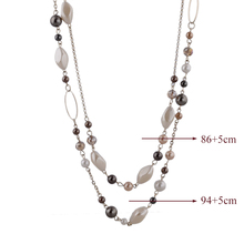 Mother Day Necklaces & Pendants Gold Color Chain Natural Stone Beads