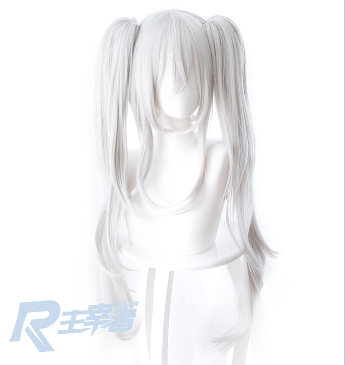 Azur Lane Wig Vampire Wig Hair 80 CM Long White Cosplay Wig Costume Accessories