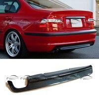 Becquet de lèvre de diffuseur arrière de Fiber de carbone de style de voiture pour BMW E46 m tech pare chocs Double embouts d'échappement pare chocs Pare-chocs     -
