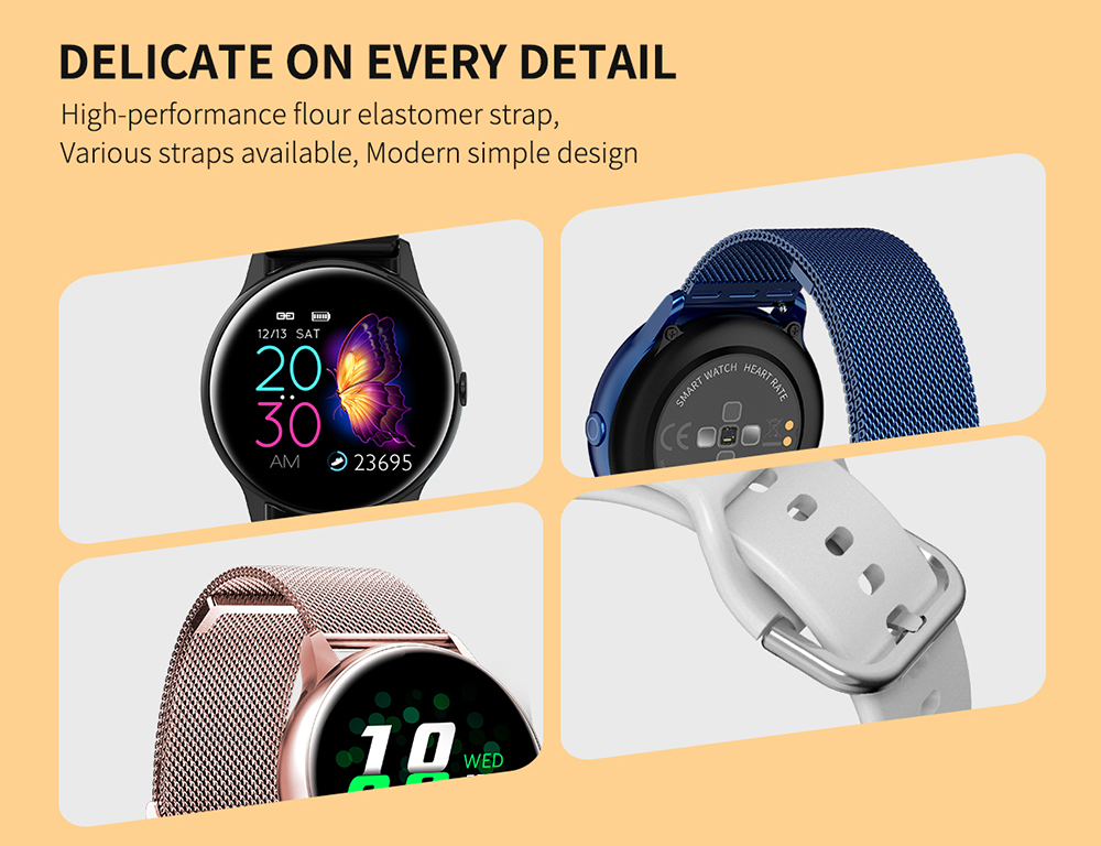 Women IP68 Waterproof Smart Watch for iPhone xiaomi LG with Bluetooth and Heart Rate Monitor Fitness Tracker 20