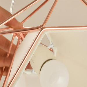 Image 4 - Single Head Diamond Shape Iron Material Ceiling Lamp Decoration Lamp No Bulb Included(Rose Gold)