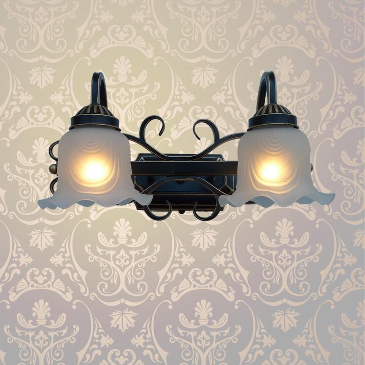 A1 European indoor iron wall lamp living room lamps lens headlight corridor FG351