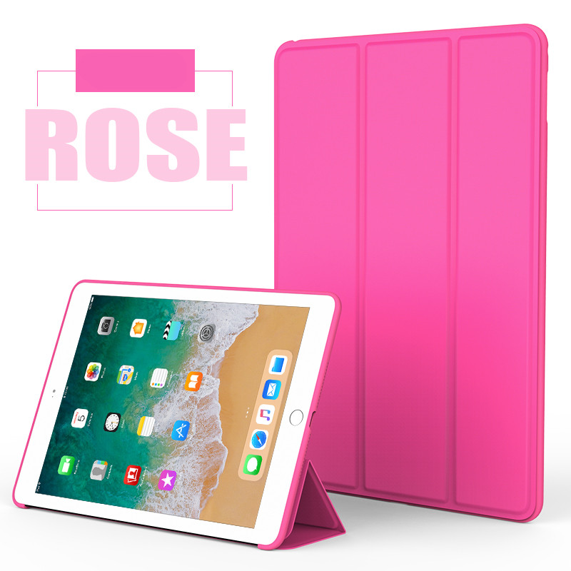 Rose Red Monochrome smart case with silicone back for Apple iPad Pro 10.5