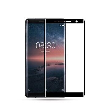 Перейти на Алиэкспресс и купить 3D полное покрытие Премиум Закаленное стекло для Nokia 8 8,1 8,3 Sirocco 8 S Nokia8.1 Nokia8S Nokia8 Защитная пленка для экрана
